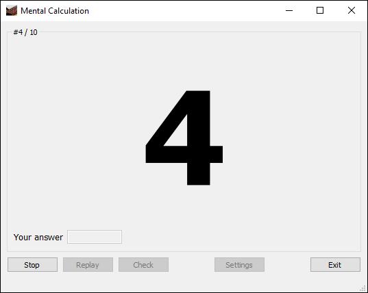 WatFile.com Download Free Mental Calculation Anzan software - Exercises for soroban examination